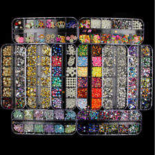 Various 3D Nail Art Rhinestones Beads Gems Jewelry Rivet Mixed Tips Decoration
