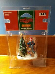 """Lemax Coventry Cove Christmas Village Accessory """"Christmas Tangle"""" 2010"""