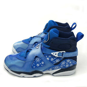 reputable site 19ef3 d367e Details about Nike Air Jordan 8 Retro (GS) SNOWFLAKE BLUE BLIZZARD WHITE  305368-400 6.5Y Shoe
