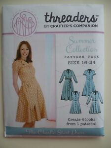 THREADERS-by-CRAFTER-039-S-COMPANION-CHARLIE-SHIRT-DRESS-PATTERN-sz-16-24-BNEW