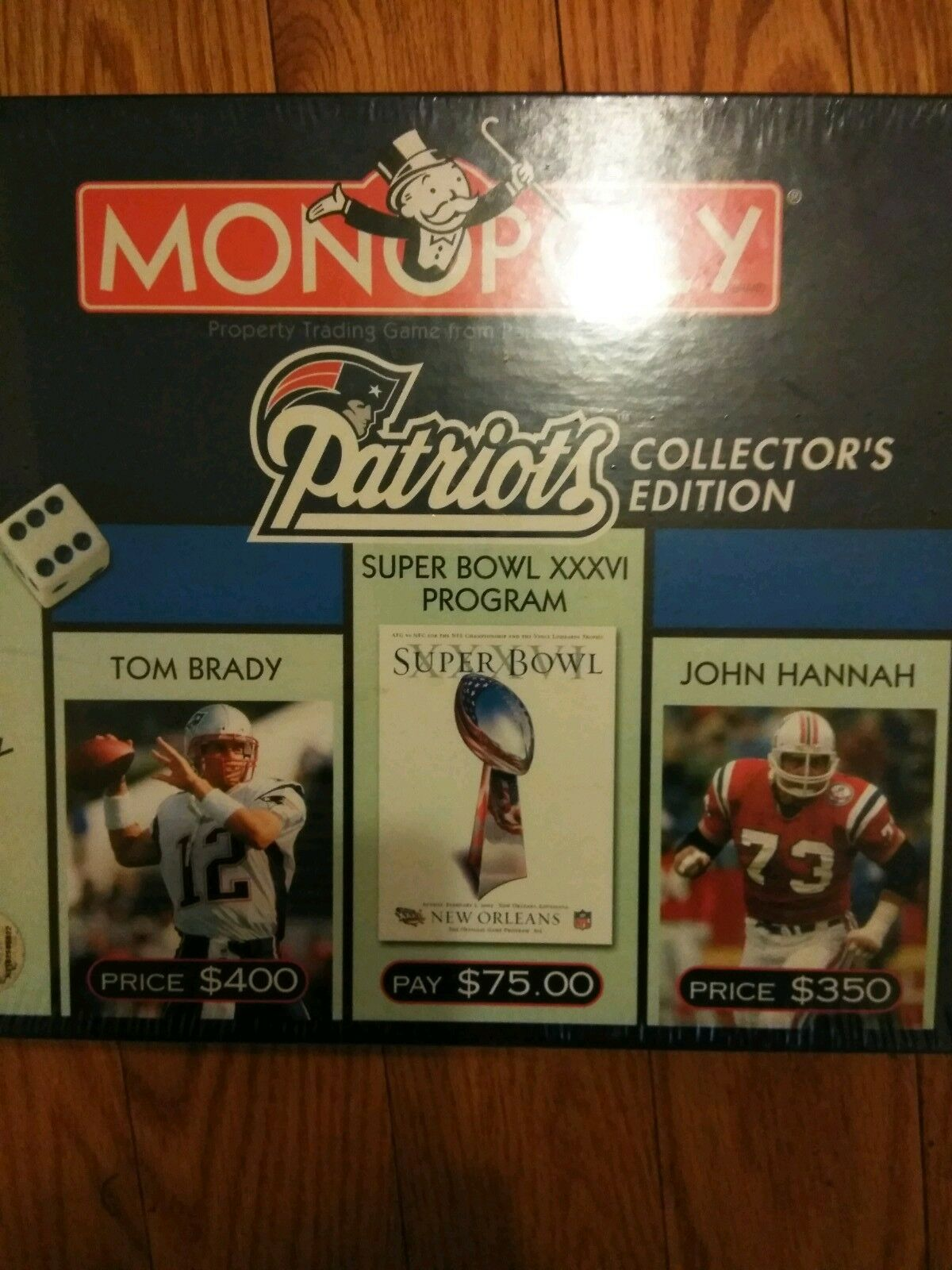2002 New England Patriots Collector's Edition Monopoly Monopoly Monopoly Game 22b765