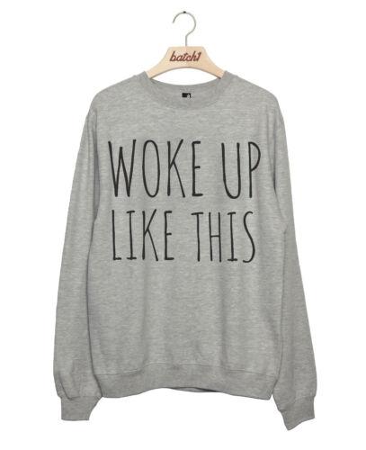 Lot 1 réveil comme ce slogan fashion lay en pyjama femme sweat