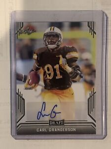 best sneakers 428bb e2727 Details about 2019 Leaf Draft Football Carl Granderson Auto New Orleans  Saints Rookie
