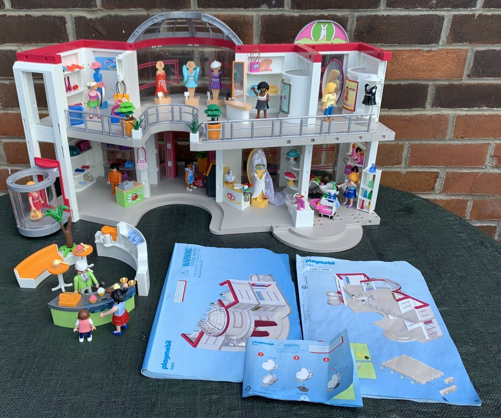 Playmobil Shopping DepartSiet Store Shop 5485 Extension 5486 Furnished5487 Salon