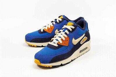 good service check out later Mens Nike Air Max 90 Premium SE Navy/Royal Blue/Cream 858954 400 UK  7.5_8_9_10 | eBay