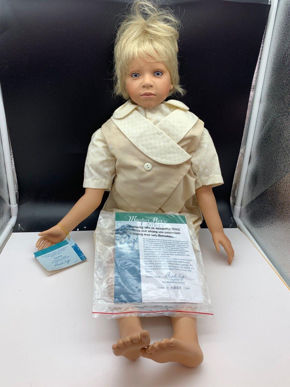 Pamela Erff Künstlerpuppe Porzellan Doll 72 cm. Limitierte Auflage. Top Zustand