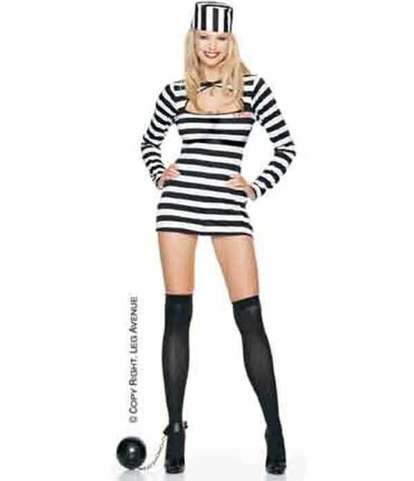 Leg Avenue Gangster Jail Bait Dress Halloween Sexy costume (83027)