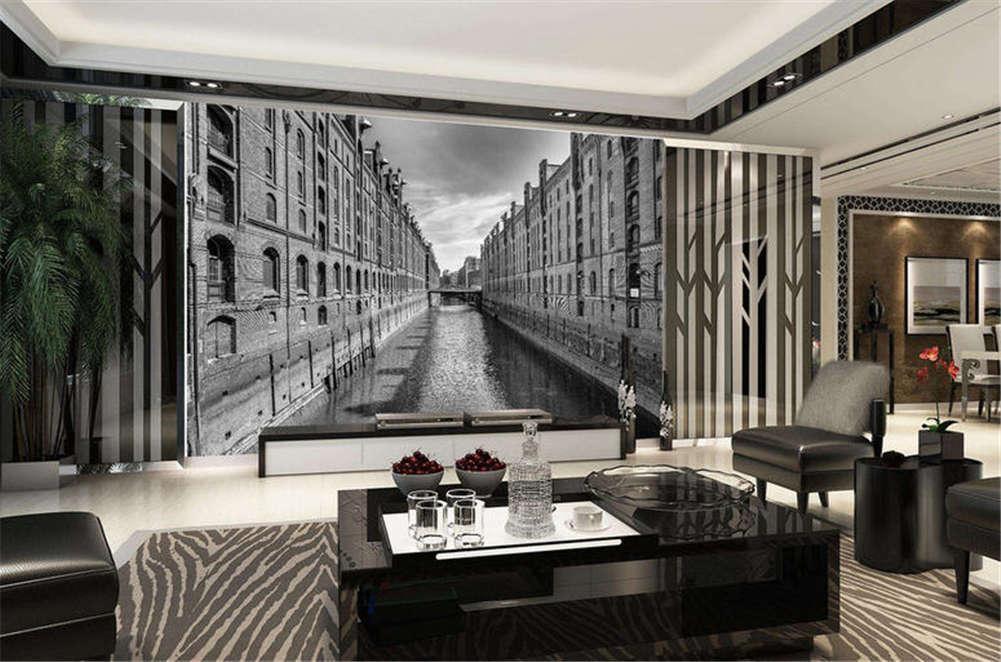 Retro Radical House 3D Full Wall Mural Photo Wallpaper Printing Home Kids Decor
