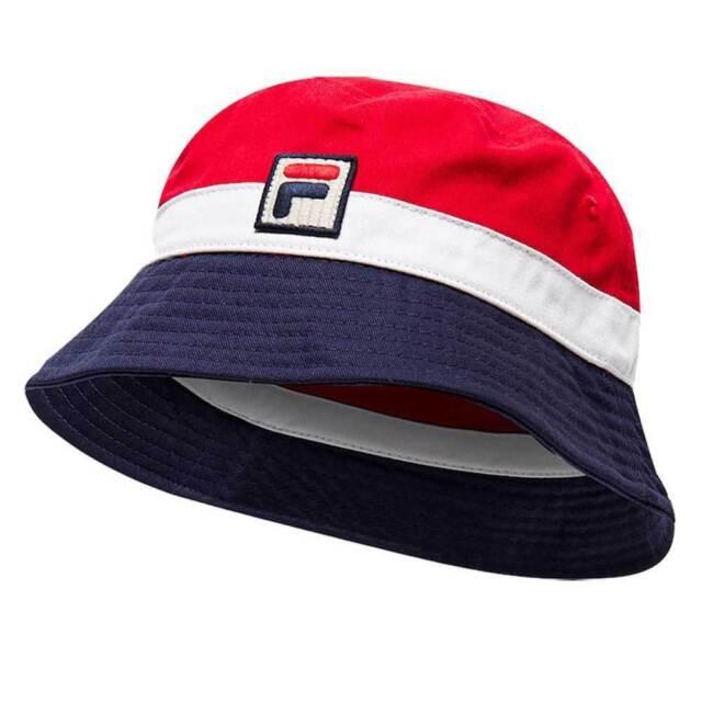 New MENS FILA WHITE BASIL COTTON BUCKET HAT HATS