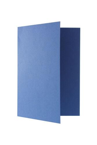 50 Blankokarten Klappkarten Faltkarten DIN A 6 225 g//m² Hochformat in 14 Farben