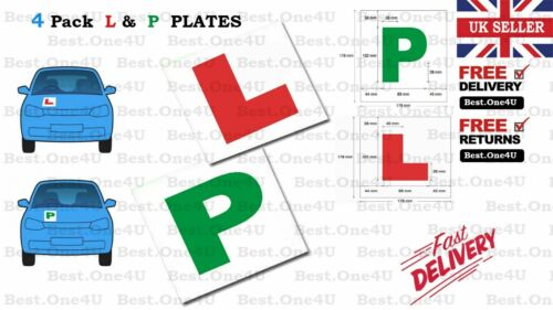 MAGNETIC 2 x L Plates /& 2 x P Plates L /& P 4 X PLATES LEARNING