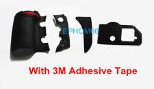 For Nikon D700 DSLR 4 Pieces Body Cover Shell Grip Rubber Unit +3M Tape +fx mark