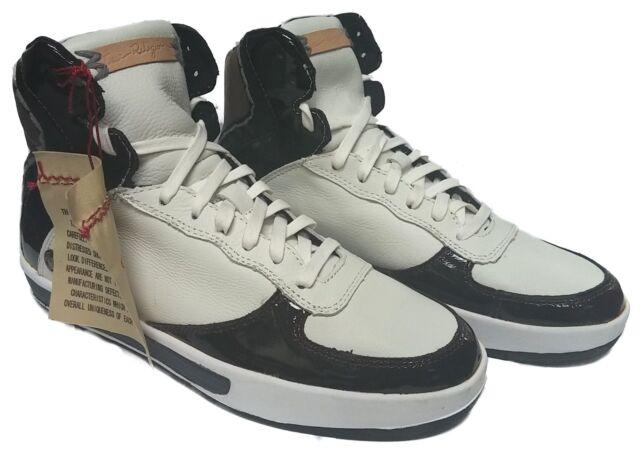 TRUE RELIGION TR154102-M77 THOMPSON Mn's (M) Wht/Bur Leather Casual Hi-Top Shoes