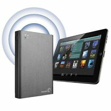 Nuevo 2TB Seagate Wireless Plus disco duro portátil para iPad, iPhone, Mac, Pc, Android