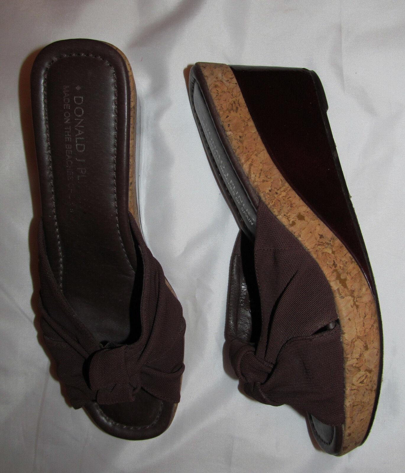 Donald J Pliner Pliner Pliner encanto Frontal anudado Twist Corcho Cuña Sandalias Diapositivas Zapatos 8 M  online barato