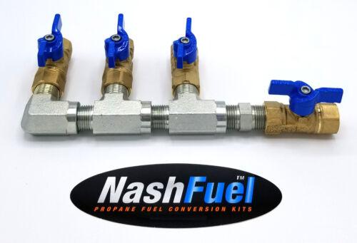 "3//4/"" PIPE LOW PRESSURE PROPANE NATURAL GAS MANIFOLD NPT THREAD LPG BALL VALVE"