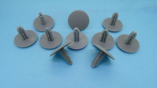 10x 7 mm Plastique Poussoir Clips Gris Rivets Fastener Trim Panel Hyundai