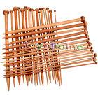 Carbonized Bamboo Set 36pcs Single Pointed Knitting Needles Crochet 2mm -10mm