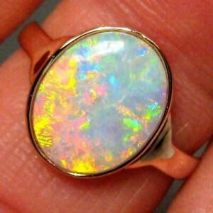 2-00Ct-Fire-Opal-Gemstone-Engagement-amp-Wedding-Ring-14k-Yellow-Gold-Finish