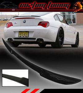 Blk Carbon Fiber Sport Trunk Lid Spoiler Wing For 03 08