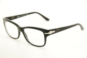 531b681ae6339 New Authentic Persol 3011-V 95 Black Silver 52mm Frames Eyeglasses ...