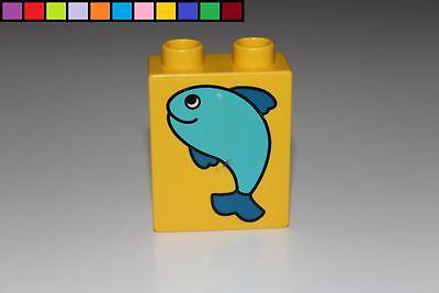 Hydrant Lego Duplo Motivstein gelb 1x2 2er hoch Baustein