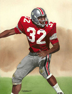 check out 5e420 1c6f9 Details about JACK TATUM OHIO STATE BUCKEYES ART PRINT