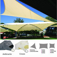 Patio Garden Sun Shade Sail Canopy Awning Sunscreen Triangle Shape 98% UV Block