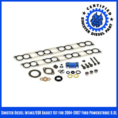 Sinister Diesel Intake//EGR Gasket Kit for 2004-2007 Ford Powerstroke 6.0L