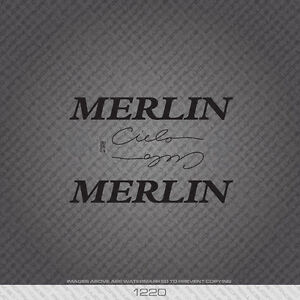 Merlin USA Cielo Bicycle Decals Transfers Stickers White Set 2
