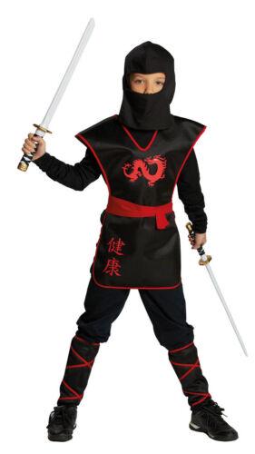 Jungen Karneval Fasching Verkleidu Ninja Krieger Dragon Fight Kinderkostüm NEU