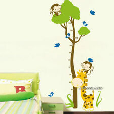 Giraffe Monkey Tree Children's Height Chart REMOVABLE Vinyl Decals Wall Stickers