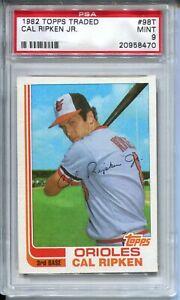 1982 Topps Traded Baseball #98T Cal Ripken Rookie Card XRC Graded PSA MINT 9