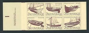 1988-SWEDEN-Inland-Boats-Booklet-contains-Scott-1671a-MNH