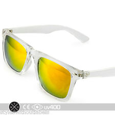 Clear Red Popular Sports Mirrored Lens Classic Hipster Sunglasses Free Case S144
