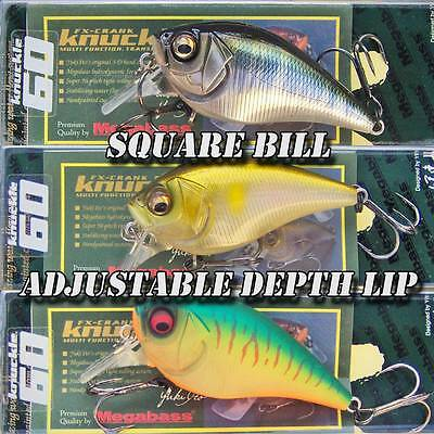 Megabass KNUCKLE 60 Square Bill crankbait bass fishing lures