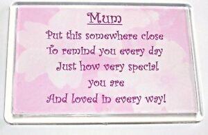 Image Is Loading Mothers Day Birthday Christmas Fridge MAGNET Mum Mummy