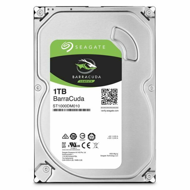 Seagate Barracuda Internal Hard Drive 1TB 7200RPM 3.5 Inch 64MB Cache Brand New