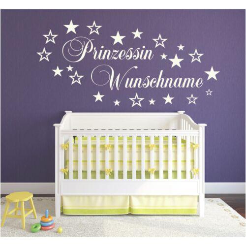 Y52 habitación infantil murales puerta-deseo name nombre príncipe princesa niño niños