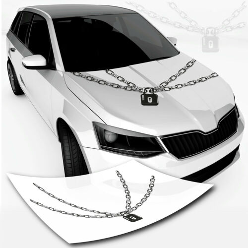 Cadenas de hierro auto pegatinas cadena con candado tatuaje car top * cadena de hierro