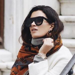 4ce7661deb ... RARE Authentic CELINE ANDREA Black Flat Top Shadow Sunglasses CL