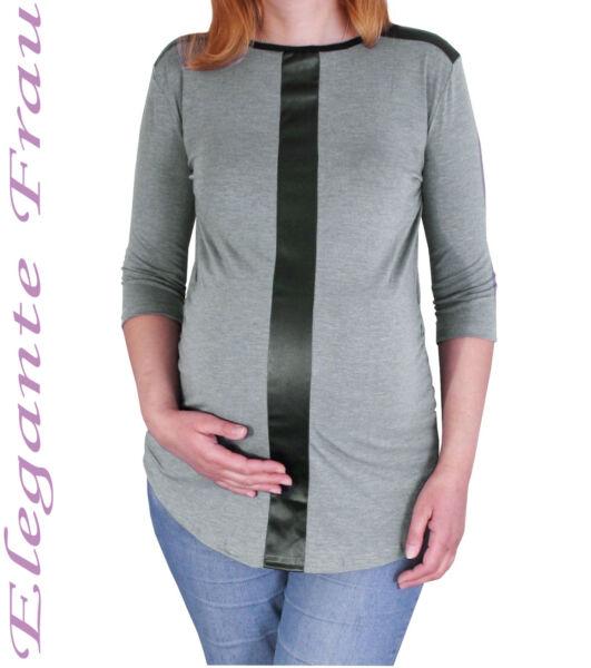 Umstandsshirt Tunika Umstands Shirt Longshirt Bluse Umstandstunika Pullover Lede