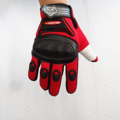 Kid Peewee Gloves BMX ATV Dirt Quad Bike Knight Motocross XL Red