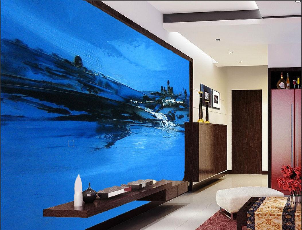 Papel Pintado Mural De Vellón blue Cielo  Río 31 Paisaje Fondo De Pansize ES AJ