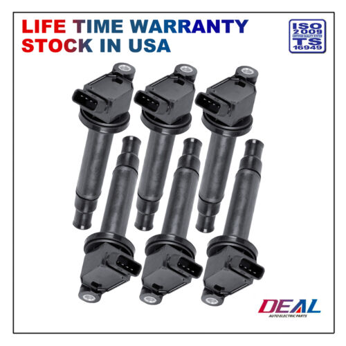 Set of 6 New Ignition Coils on Plug Packs Replacement Fit Lexus//Toyota 3.0L V6