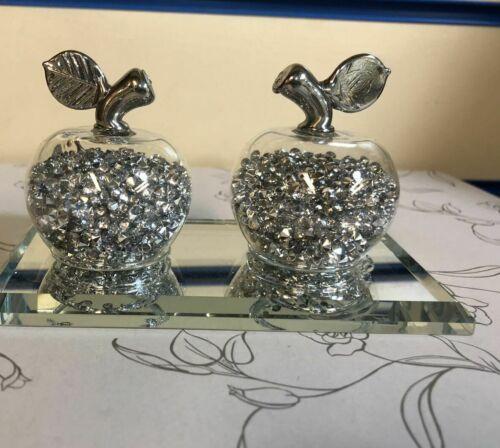 Verre miroir cerises CRISTAL maille ornement décoratif objet Cadeau Idéal