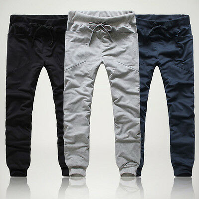 >>Mens Casual Harem Baggy HIPHOP Dance Jogger Sport Sweat Pants Trousers Slacks