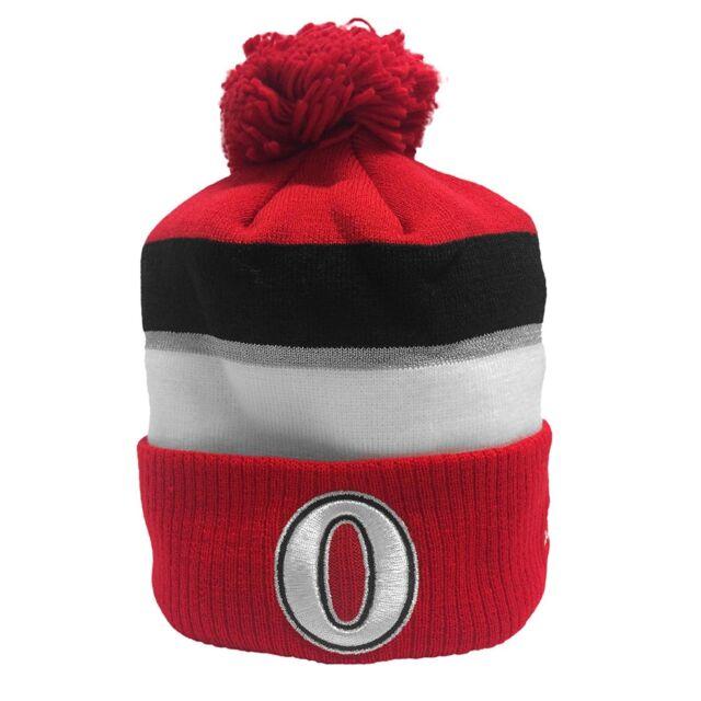 13addd6439548 adidas 2017 NHL 100 Classic Ottawa Senators Goalie Knit Hat Toque ...