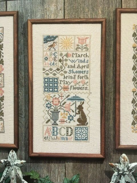 Spring The Prairie Schooler MARCH * DAFFODILS Counted Cross Stitch Pattern Chart Book No Sampler Sheep 146 Hoffman Reprint