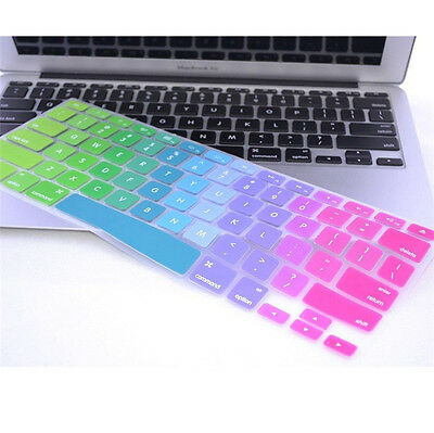 Newest Colorful Rainbow Keyboard Cover Skin for MacBook Pro Air 11 13 15
